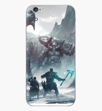 Kratos and Atreus fighting a Troll iPhone Case