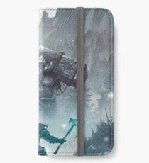 Kratos and Atreus fighting a Troll iPhone Wallet/Case/Skin