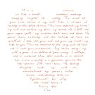 Love Poem in Shape of Heart by StarVia