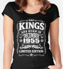 Kings are born in december 1955 Women's Fitted Scoop T-Shirt