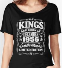 Kings are born in december 1956 Women's Relaxed Fit T-Shirt