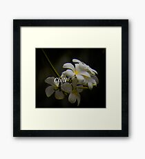 Smell the Chill Framed Print