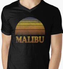 Vintage Malibu Sunset Shirt Men's V-Neck T-Shirt