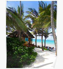 African Beach Hut - Kenya Africa Poster