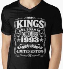 Kings are born in december 1993 Men's V-Neck T-Shirt