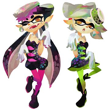 Splatoon Squid Sisters Callie and Marie by overflag