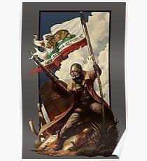 Fallout NCR Ranger Flag Fan Kunst Poster Poster
