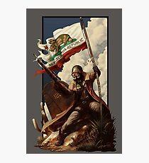 Fallout NCR Ranger Flag Fan Art Poster Photographic Print