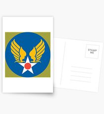 US Army Air Corps Hap Arnold Wings Postcards