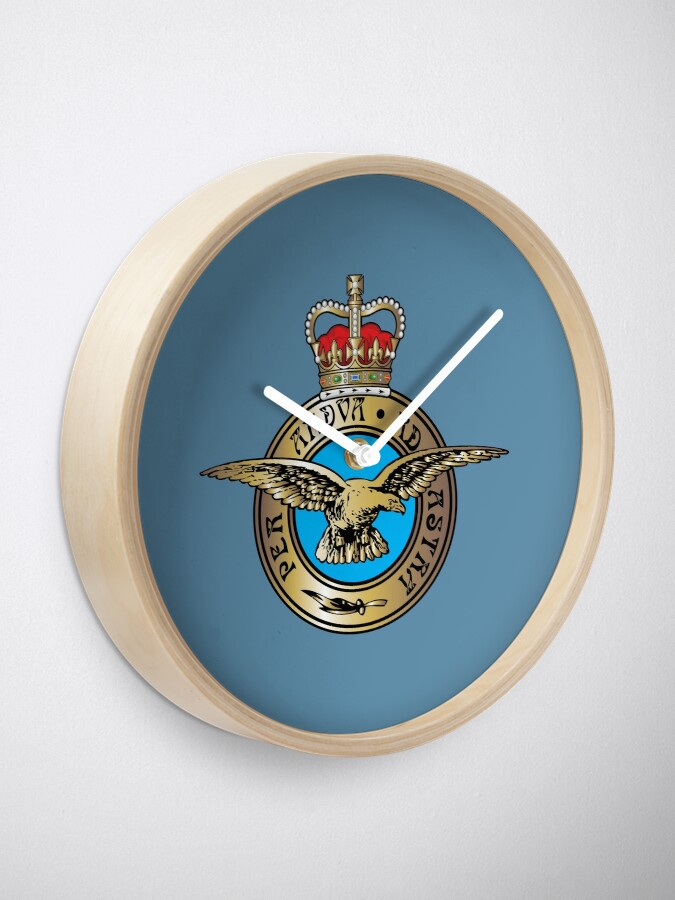 Alternate view of Royal Air Force Badge Clock