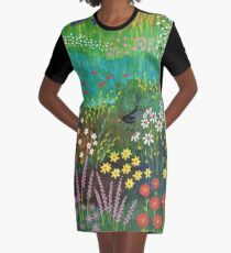 By Summer Pond bright contemporary summer image Graphic T-Shirt Dress