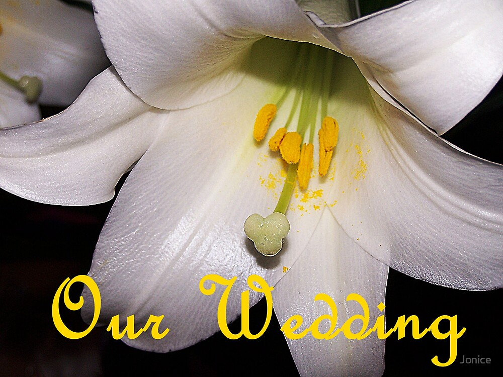 Our Wedding Easter Lily by Jonice