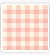 PASTEL GINGHAM 02, blush pink squares Sticker