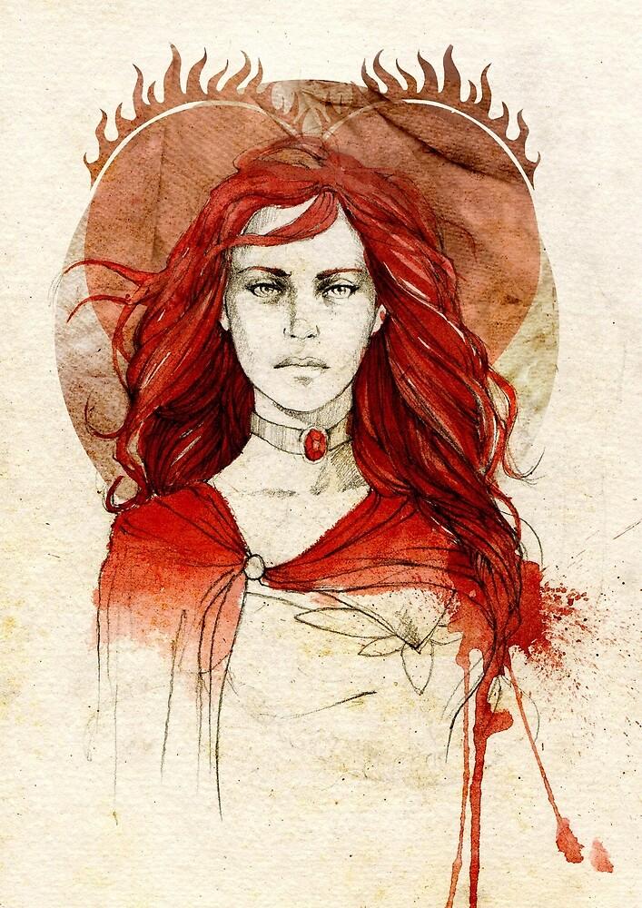 Melisandre od Asshai by Elia Mervi