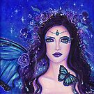 Blue Morpho fairy queen art by Renee L Lavoie by Renee Lavoie