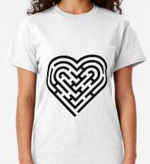 Heart maze Classic T-Shirt