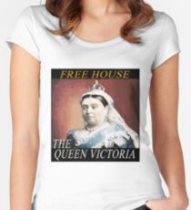 The Queen Vic Public House Women's Fitted Scoop T-Shirt