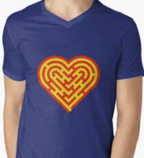 Heart maze V-Neck T-Shirt