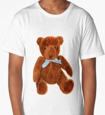 Teddy Bear Portrait Watercolor Painting Artwork  Long T-Shirt