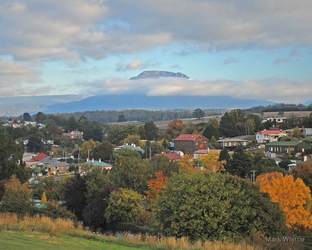 Deloraine and Quamby Bluff in Autumn by Mark Whittle
