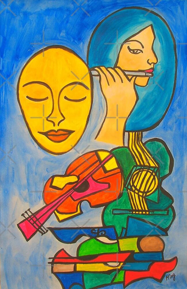 Playing Blue by Ming  Myaskovsky