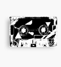 Black & White Cassette Tape Canvas Print