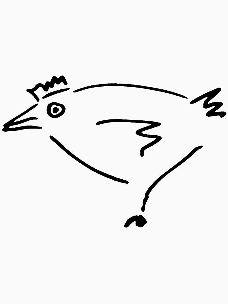 The Secret Chicken - Black by Etakeh