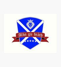 Scotland forever scottish flag Art Print