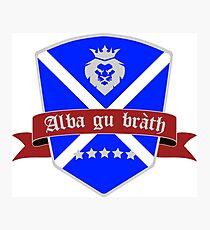 Scotland forever scottish flag Photographic Print