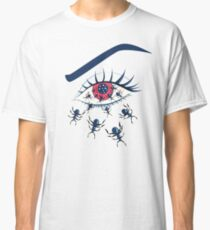 Creepy Red Eye With Crawling Ants Classic T-Shirt