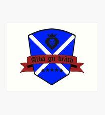 Scotland forever black Art Print