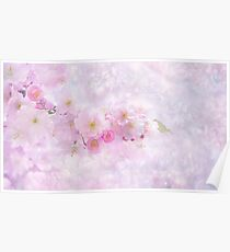Pink Nature Flower Poster
