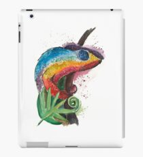 Watercolor colorful chameleon iPad Case/Skin