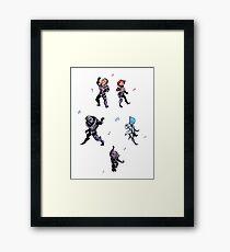 Mass Effect Dance Party Framed Print