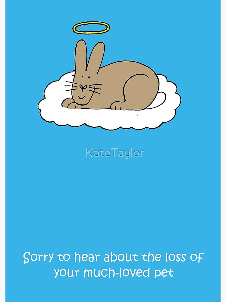 Loss Of Pet >> Sympathy On Loss Of Pet Rabbit Greeting Card