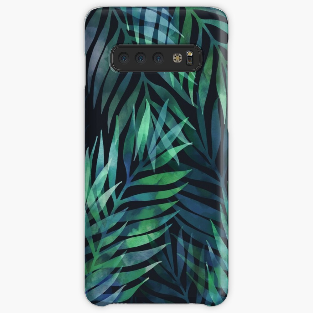 Dark green palms leaves pattern Case & Skin for Samsung Galaxy