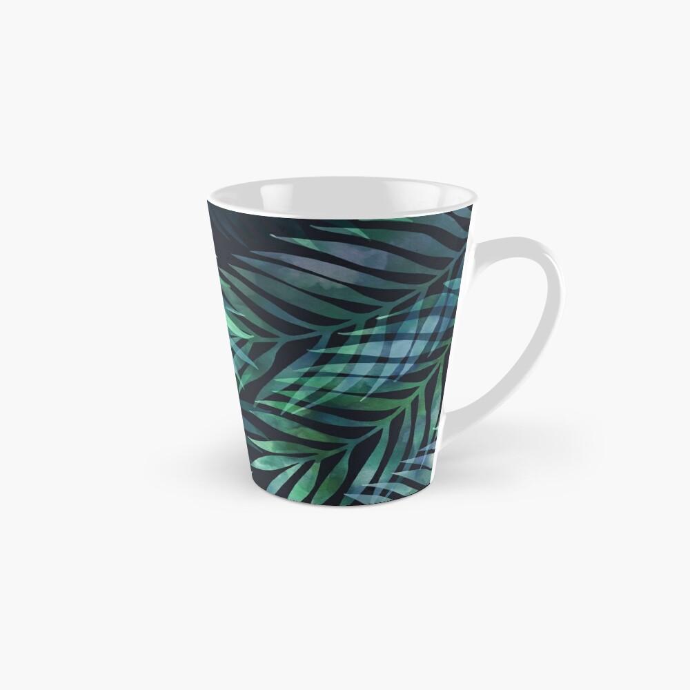 Dark green palms leaves pattern Mugs