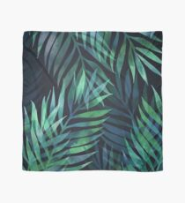 Dark green palms leaves pattern Scarf