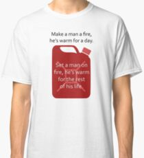 Man and fire design Classic T-Shirt