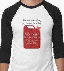 Man and fire design Men's Baseball ¾ T-Shirt
