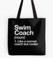 Schwimmen-Trainer-lustiger Definitions-Trainer-Geschenk-Entwurf Tote Bag