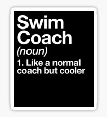 Swim Coach Funny Definition Trainer Gift Design Sticker