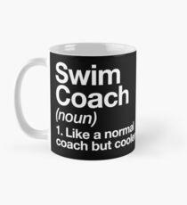 Swim Coach Funny Definition Trainer Gift Design Classic Mug