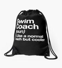 Schwimmen-Trainer-lustiger Definitions-Trainer-Geschenk-Entwurf Turnbeutel