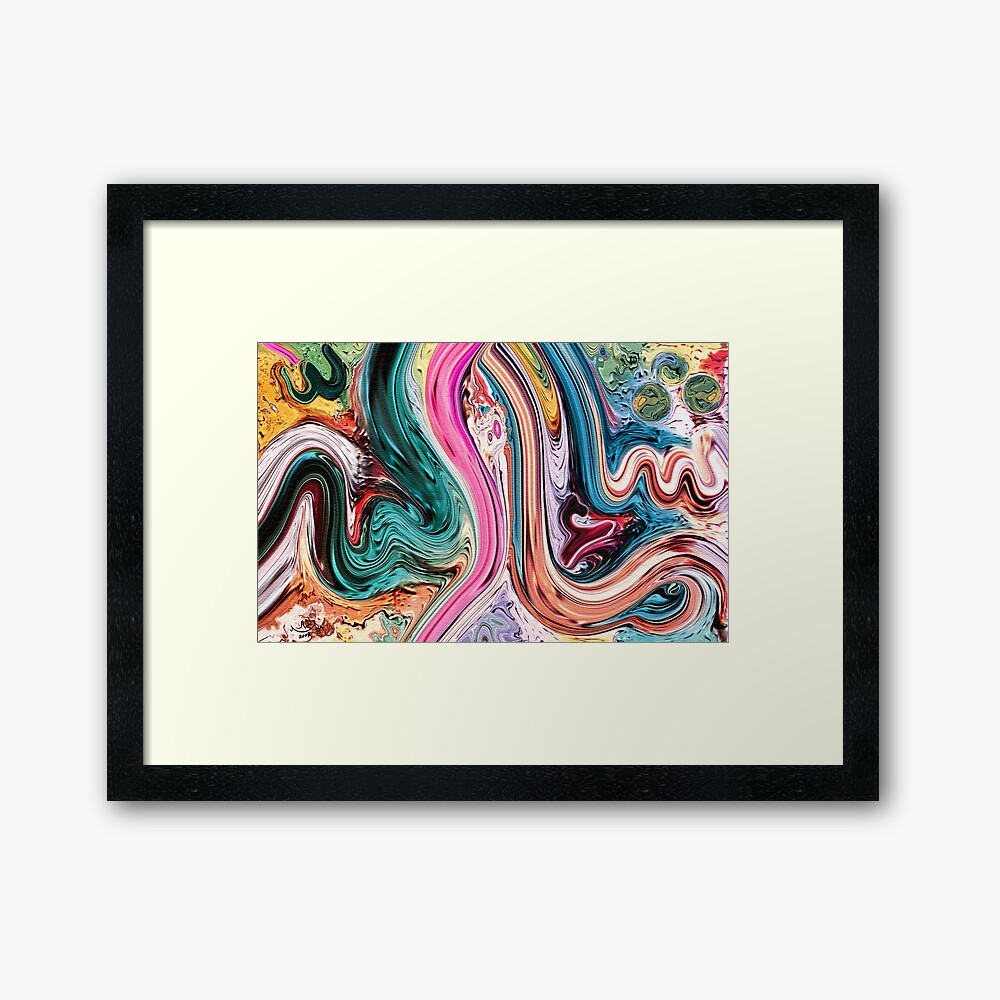 Ma Sha Allah Modern Calligraphy  Painting Framed Art Print
