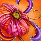 The Paisley Gerbera by Alma Lee by Alma Lee