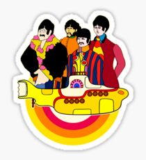 Gelbes U-Boot - Pop-Art Sticker