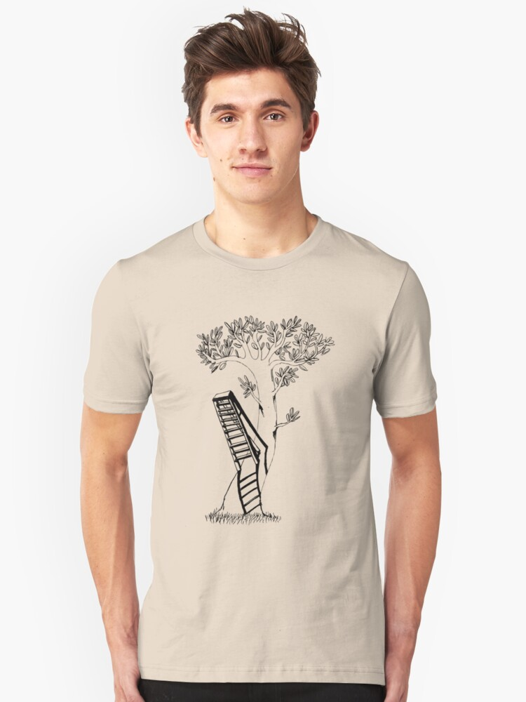 The ladder climbs the tree Unisex T-Shirt Front