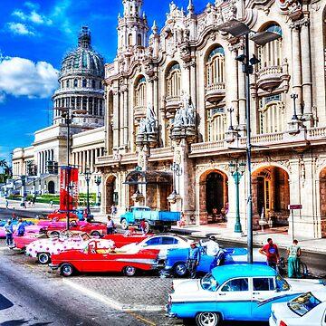 Havana National Theater & Capitol, Cuba,Havana, Cuba by tommysphotos
