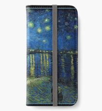 Van Gogh - Starry Night over the Rhone (framed) iPhone Wallet/Case/Skin